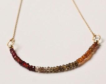 Tourmaline, Gold Filled Chain, Semi-Precious Stones, Minimalistic