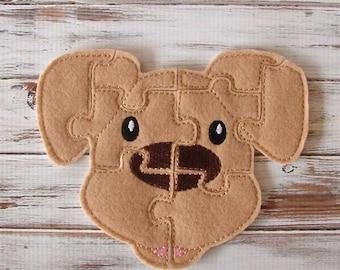 Dog Puzzle - Animal Puzzles - Kids, Felt Toy - Toddler, Preschool, Educational Toy