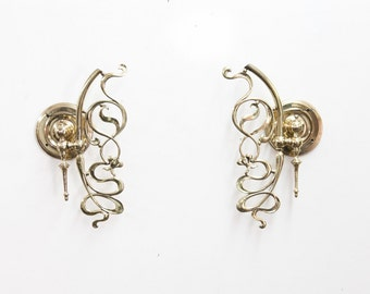 Pair of English Art Nuveau Wall Sconces
