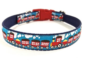 train dog collar/ ribbon dog collar/ adjustable dog collar