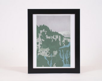 Vintage Rivendell Lord of the Rings -inspired print