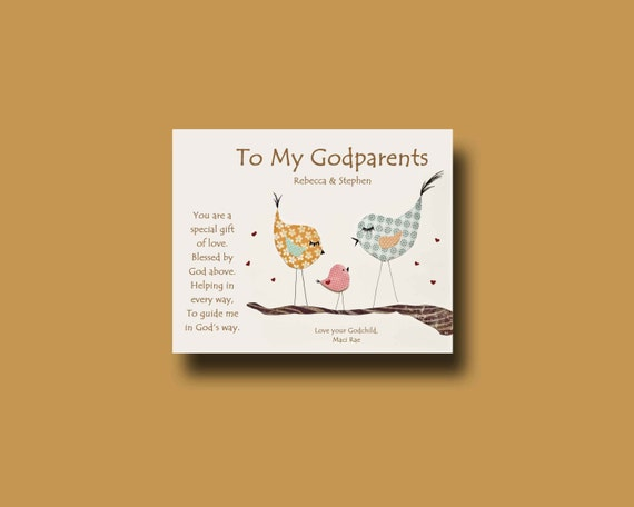 Godparent Keychain Gift For Godparents Gift For: Godparents Gift Personalized Gift For Godmother And