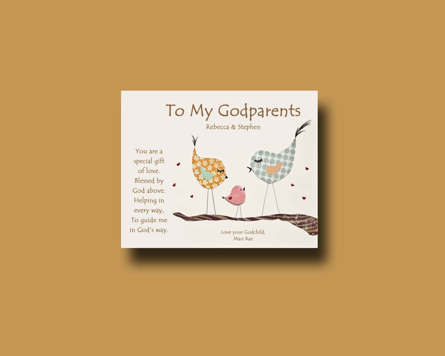 Gift For Godmother Godmother Gift Mothers Day Gift: Godparents Gift Personalized Gift For Godmother And