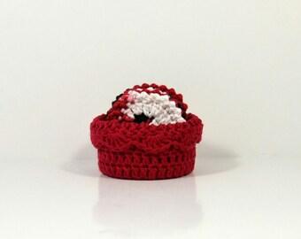 Crochet Basket - Facial Scrubbies - Make-Up Removers - Spa Basket