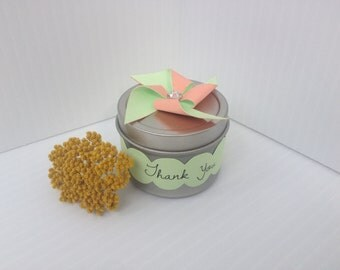 Spice Favor Tin with Pinwheel Topper