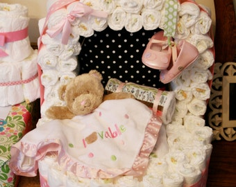 Diaper Bassinet • PATTERN • Diaper Cake for a Baby Shower • Expectant Mama's