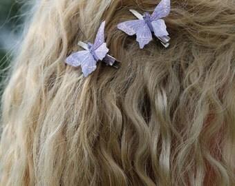 Butterfly hair clips, Butterfly hair accessory, butterflies, purple butterflies
