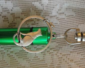 CAT Memorial Jewelry, PET, Cremation Urn, Add-a-Photo, *BONUS* Purse clip, Necklace, & Keychain