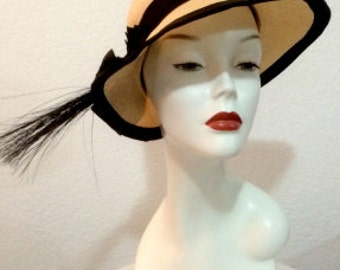 FREE  SHIPPING                                Designer Adolfo Panama Straw Hat