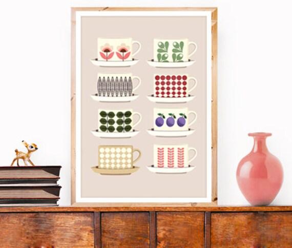 Affiche a3 art print retro cuisine th caf par for Affiche cuisine retro