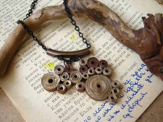 Steampunk Wedding Gifts: 1st Wedding Anniversary Gift For Her Steampunk Necklace