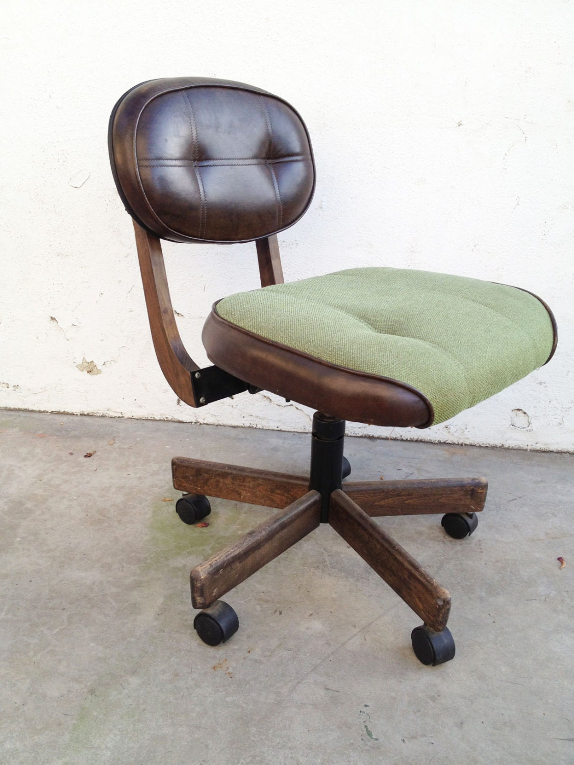 vintage steelcase tanker chair brown retro leather office