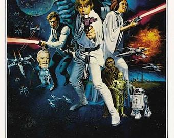 Star Wars Movie Poster Digital Print Various Sizes