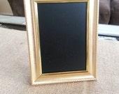 Small Gold Wooden Framed Chalkboard
