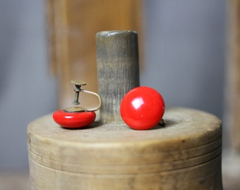 1950s Red Cherry Tomato Earrings