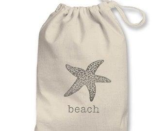 3x5in Beach Typewriter & Sugar Starfish Sealife Theme Pouch