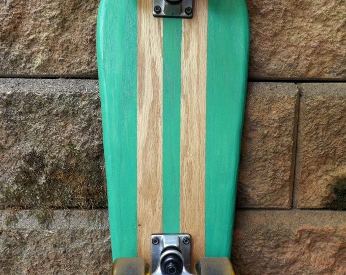 the Gnome II - Complete Cruiser Skateboard - Fender Seafoam Green with Pinstripes