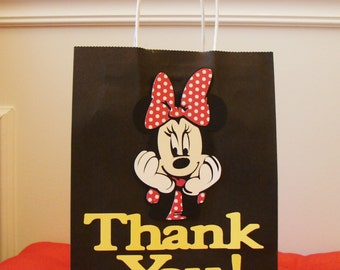 Minnie Mouse Gift Bags - 10 Per Pack - Handmade - Customizable