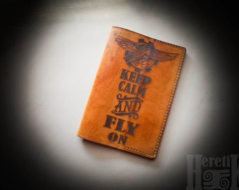 """Passport cover """"Keep calm and fly on"""""""