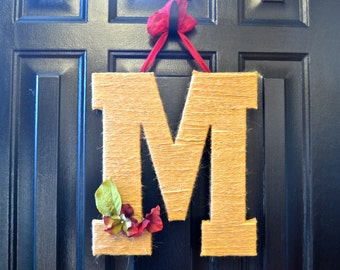 Monogram Front Door Decoration 13.5""