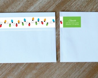 Wraparound Address Label Return Address Labels Christmas Address Label Personalized Holiday Stickers