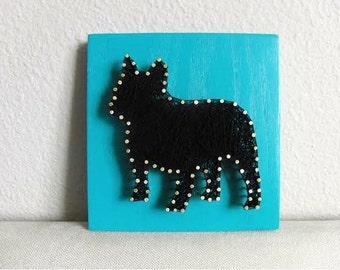 "8""x8"" French Bulldog String Art"