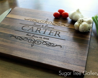Personalized Cutting Board, Christmas, Gift For Mom, Gift For Her, Personalized Womens, Husband Gift, Brother, Kitchen Decor, Hostess Gift