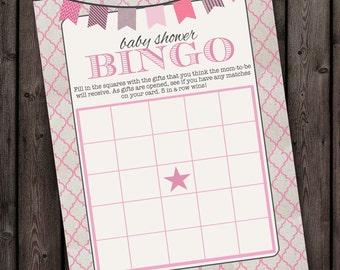 INSTANT DOWNLOAD gift BINGO Baby shower game,  8x10 printable