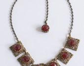 Ruby Glass Antique Jewelry