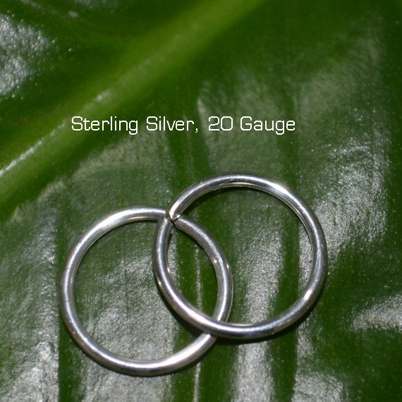 Nose Ring 20g - Silver Nose Hoop - Tragus Ring - Helix Piercing - Cartilage Earring - Rook Jewelry - Daith - Septum Jewelry 20g