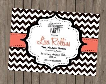 Printable Bachelorette Invitation - Lisa Coral