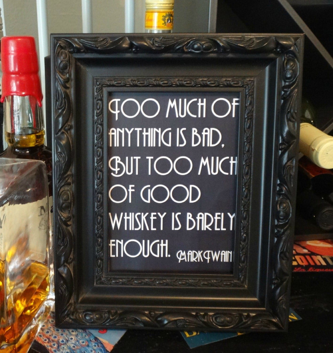 Printable Mark Twain Whiskey Quote Sign By Dollfacepunkshop