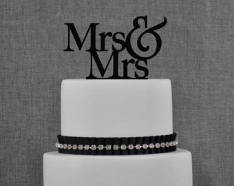 Gay Cake Topper, Mrs And Mrs Cake Topper, Gay Wedding Cake Topper, Topper For Wedding, Modern Cake Topper, Gay Wedding Decor (T003)