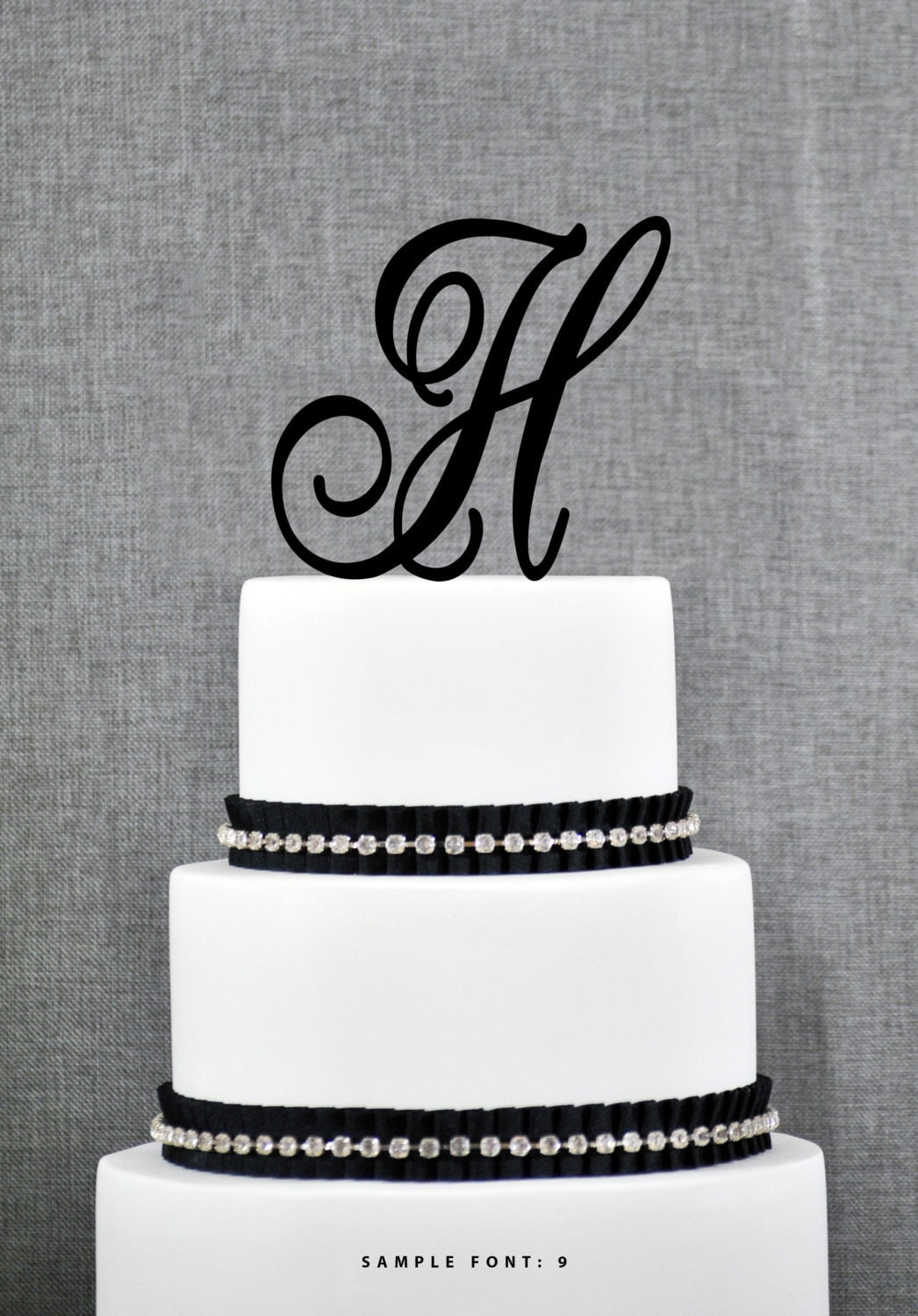 letter h wedding cake topper letter h single monogram cake topper custom wedding cake 16834