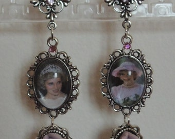 Princess Diana Lady Di Earrings