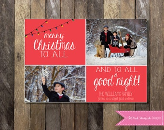 PRINTABLE Photo Christmas Card, Holiday Card: Holiday Christmas Card PRINTABLE 4x6 or 5x7