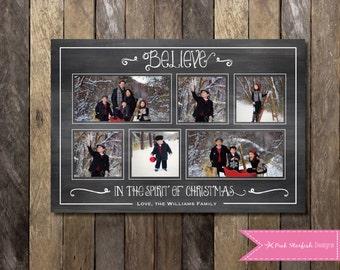 Chalkboard Christmas Card, Holiday Card, Photo Christmas Card, Christmas Card, Chalkboard, Chalkboard Holiday Christmas Card, Xmas Card
