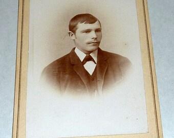 """1800's Gyldenaas Tromso Norway Carte de Visite 4"""" Photo Young Man #28"""