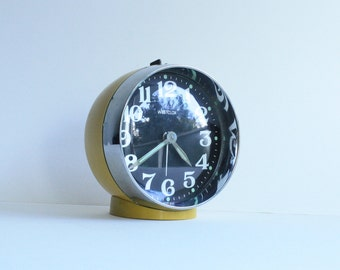 Vintage Alarm Clock Westclox Scotland Great Retro Design