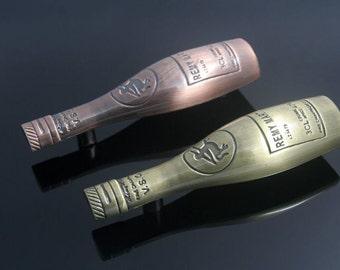 2 5 Kitchen Cabinet Handles Pulls Knobs Bar Wine Bottle Antique Bronze Copper Unique Drawer
