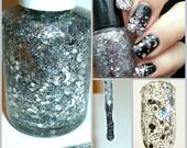 Going Through Phases ~ Indie Handmade Nail Polish 5-Free Custom Blended Dense Glitter Lacquer