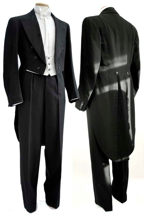 Vintage 1930s Great Gatsby Evening White Tie Amp Tails Suit