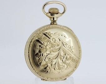 14K Gold American Waltham Pocket Watch