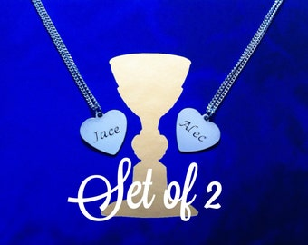 Parabatai Necklaces - Set of 2 Inspired by The Mortal Instruments & The Infernal Devices Shadowhunters