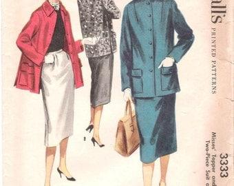 1950s McCalls 3333 Suit Pattern 12/30