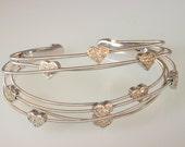 14k White Gold Bangle Bracelet with Diamonds 1.0 carat   free shipping       m103392.