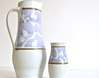 Set of Ceramic Water Pitcher and Cup