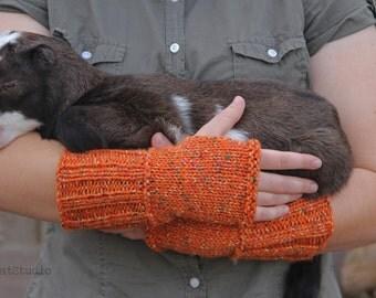 Cozy Pumpkin Fingerless Gloves