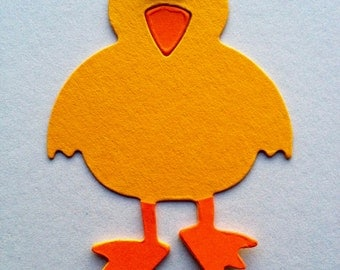 6 assembled Easter Chicks bird toppers with googly eyes for easter craft cardmaking scrapbooking