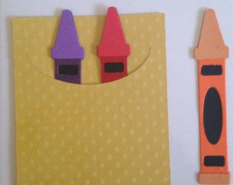 Quickutz Crayon Box and Crayons Die Cuts